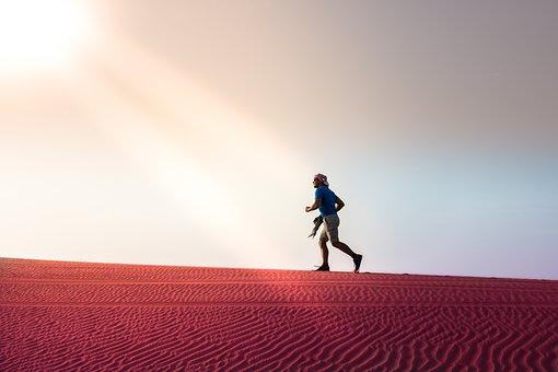 man-running-desert